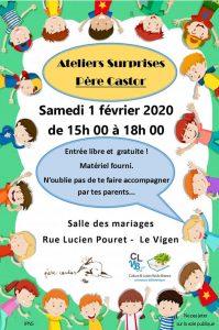 Ateliers surprises - Père Castor @ Salle des mariages
