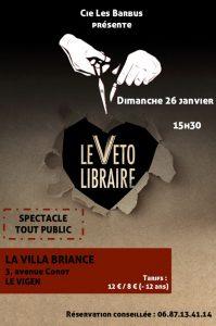 Spectacle le Véto Libraire @ Villa Briance