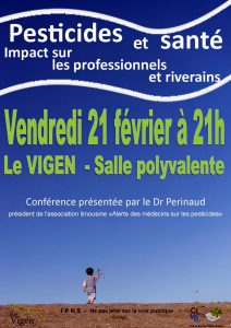Conférence sur les pesticides @ Salle polyvalente