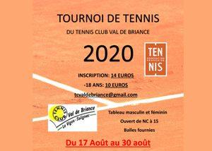 Le Tennis Club Val de Briance organise son tournoi annuel cet été !