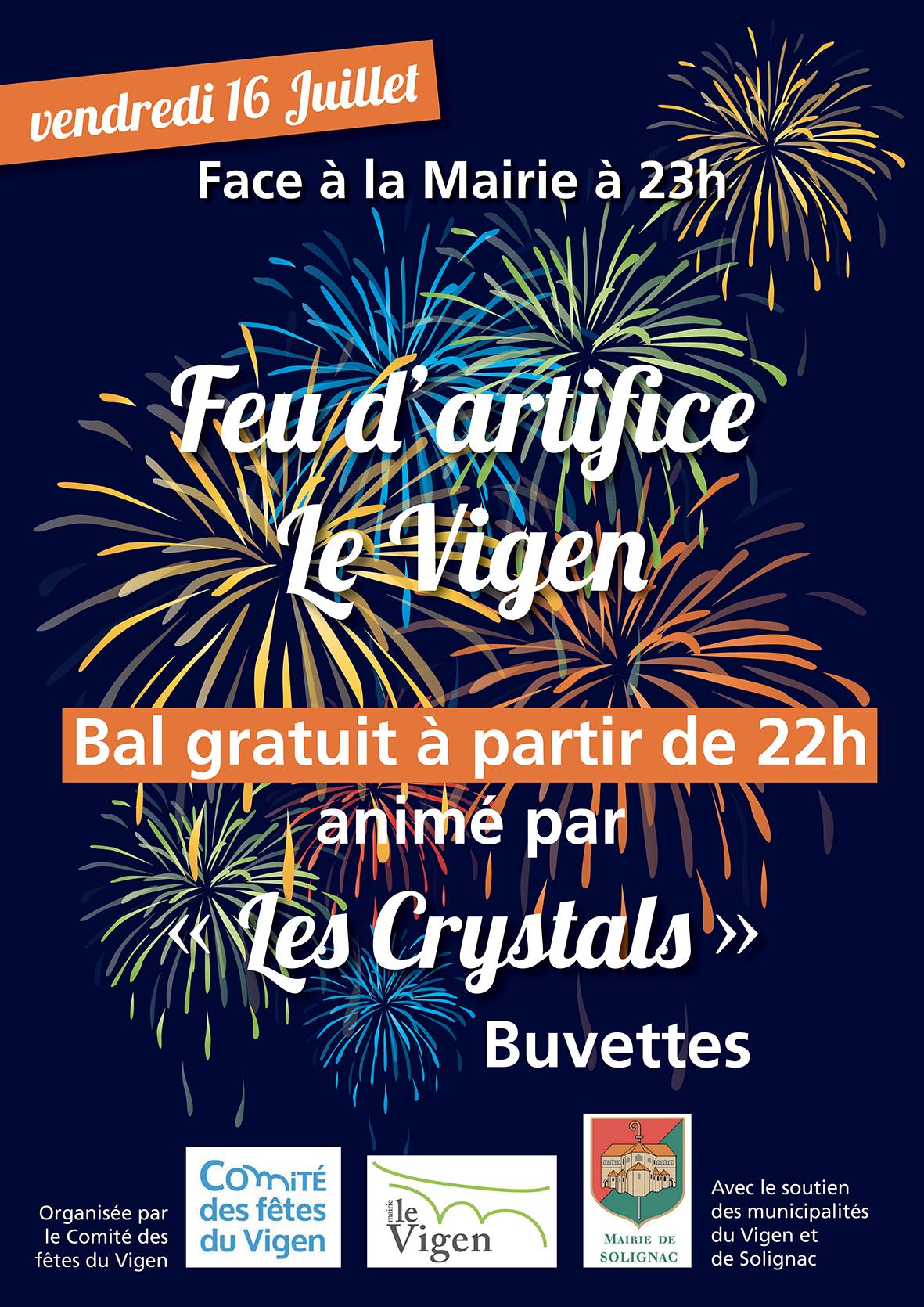 Feu d'artifice et bal populaire @ Le Vigen