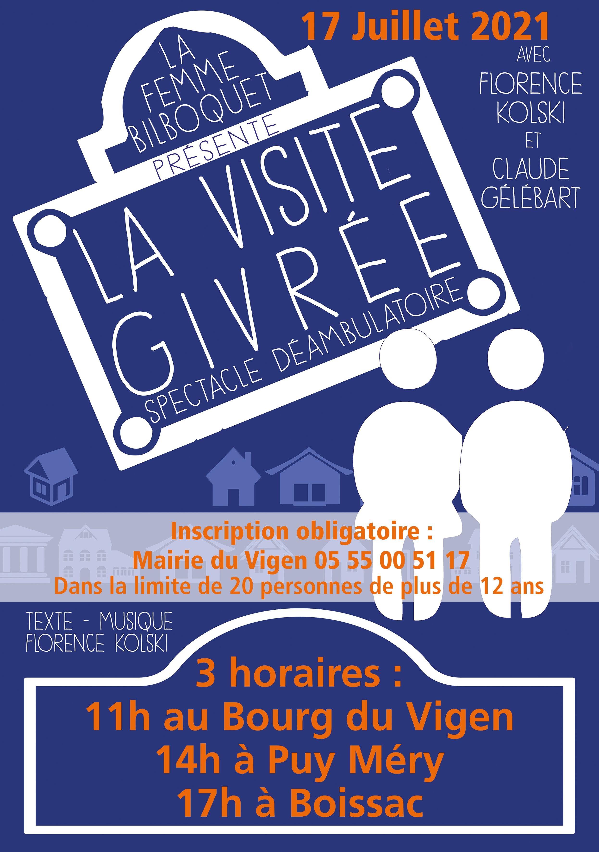 """Spectacle """"La visite givrée"""" au Bourg @ Le Vigen"""